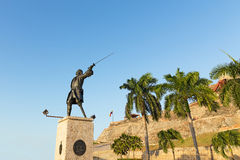 Statue of General Blas at the plaza adjacent to the fortress. Stock Photography