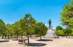Statue of General Championnet on the Champ de Mars Esplanade in Valence, France. Statue of General Championnet on the Champ de Mars Esplanade in Valence - Drome royalty free stock image