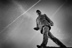 Statue of General de Gaulle. In France Stock Images