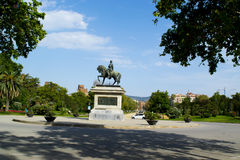 Statue of General Joan Prim in Barcelona Royalty Free Stock Photography