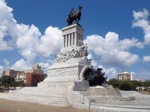 Statue General Máximo Gómez. In Havana Stock Photos