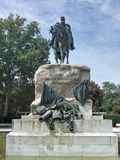 Statue of General Martinez Campos.  El Retiro. Madrid. Statue in memory of General Martinez Campos. El Retiro. Madrid. Spain Royalty Free Stock Photos