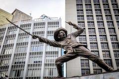 Statue of General Pio Del Pilar at Makati Ave stock photo