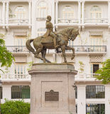 Statue of General Tomas Herrera in Panama City. Statue of General Tomas Herrera, Historical Old Town, Panama City royalty free stock photography