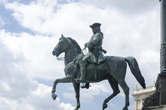 Statue of a general in Vienna stock image