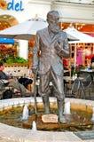 Statue of George Bernard Shaw. Image of george bernard shaw sculpture in NIagara on the lake ONtario Canda stock photography