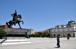 Statue of George Kastriot in Pristina. royalty free stock photo