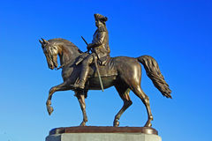 Statue of George Washington. On Horse Back in Boston Public Garden Stock Photos