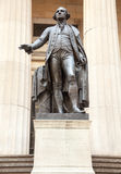 Statue George Washington Federal Hall. Statue to President George Washington Federal Hall NY Stock Photography