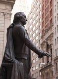 Statue George Washington Federal Hall. Statue to President George Washington Federal Hall NY stock photo