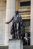 Statue of George Washington at New York Manhattan financial dist royalty free stock photos