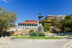 Statue of Georgian poet Nikoloz Baratashvili in Tbilisi, Georgia Royalty Free Stock Images