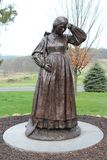 Statue at Gettysburg PA. Statue of a women in Gettysburg Pennsylvania Royalty Free Stock Photos