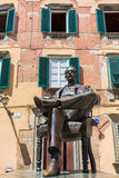 Statue of Giacomo Puccini in front of his birthplace in Lucca, Italy Stock Photography