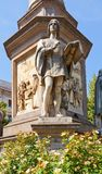 Statue of Gian Giacomo Caprotti da Oreno (Andrea Salai). Milan,. Statue of Gian Giacomo Caprotti da Oreno (Andrea Salai, 1480-1524), Italian artist and pupil of Royalty Free Stock Images