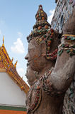 Statue of Giant at Wat Arun (Temple of Dawn) Royalty Free Stock Photo