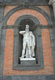 Statue of Gioacchino Murat on the facade of Royal Palace in Napl Stock Photography