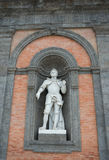 Statue of Gioacchino Murat on the facade of Royal Palace in Napl Stock Image