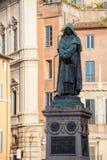 Statue of Giordano Bruno on Campo de Fiori in Rome Royalty Free Stock Photos