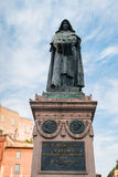The statue of Giordano Bruno Stock Photo