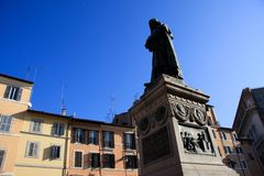 Statue of Giordano Bruno, Rome Royalty Free Stock Photos