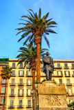 Statue of Giovanni Nicotera on Piazza Vittoria in Naples Royalty Free Stock Images