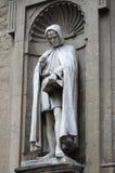 Statue of Giovanni Villani Stock Photos