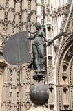 Statue of the Giraldillo in Sevilla. Statue of the Giraldillo at the entrance of Sevilla Cathedral. Sevilla, Spain stock images