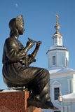 Statue of girl playing flute, Russia Stock Image