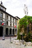 The statue of Giuseppe Garibaldi errected in the Piazza Garibaldi, Iseo. stock photo