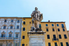 Statue of Giuseppe Garibaldi in Lucca, Italy Royalty Free Stock Photo