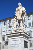 The statue of Giuseppe Garibaldi in Lucca, Tuscany, Italy Stock Images