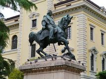 The statue of Giuseppe Garibaldi in Verona Royalty Free Stock Photo