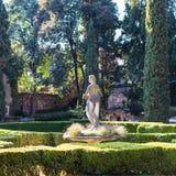Statue in Giusti Garden in Verona city in spring Stock Photography