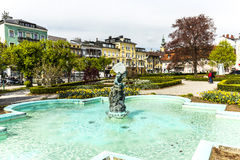 Statue the Gnome in Gmunden, Austria Royalty Free Stock Photography