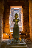 Statue of God Bodhisattva Khmer Art at ancient thai castle or Pr Royalty Free Stock Images