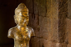 Statue of God Bodhisattva Khmer Art at ancient thai castle or Pr Stock Images