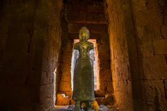 Statue of God Bodhisattva Khmer Art at ancient thai castle or Pr Royalty Free Stock Image