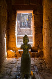 Statue of God Bodhisattva Khmer Art at ancient thai castle or Pr Royalty Free Stock Photo