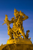 Statue of God fighting with monkeys in Pura Luhur Uluwatu,  Bali Stock Images