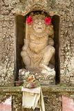 Statue of a god in Hindu temple. Stone statue of a god in Hindu temple Royalty Free Stock Images