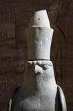 Statue of god Horus. In his temple Edfu, Egypt royalty free stock photos