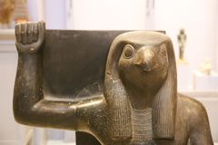 Statue of God Horus - Cairo Museum close up royalty free stock images