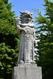 Statue of god Radegast on Radhost Mountain in Beskids,Czech Royalty Free Stock Photo