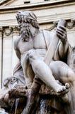 Statue of the god Zeus in Bernini's Fountain , Piazza Navona, Ro Royalty Free Stock Photos