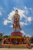 Statue of the Goddess Guanyin against blue sky Royalty Free Stock Image