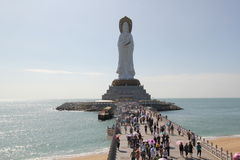 Statue of the goddess of Guanyin on Hainan Royalty Free Stock Photography