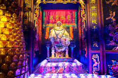Statue of the Goddess of Mercy Guanyin at Lin Fa Temple, Hong Kong. Lin Fa Temple is located in the Tai Hang district of Hong Kong Island and is dedicated to the royalty free stock photo