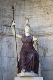 Statue of the goddess Roma Royalty Free Stock Photo