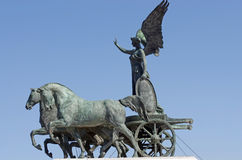 Statue of goddess Victoria on cart Royalty Free Stock Images